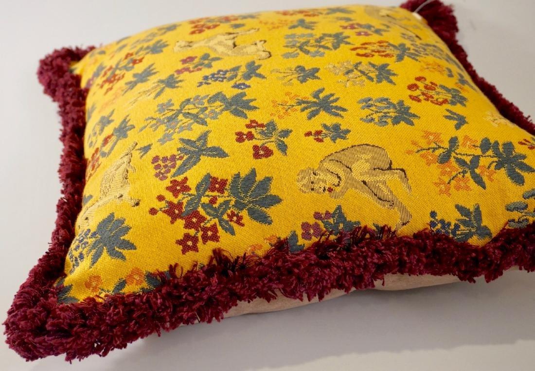 Lot of 2 Designer Pillows Envelope Tassel Monkey Tinsel - 3