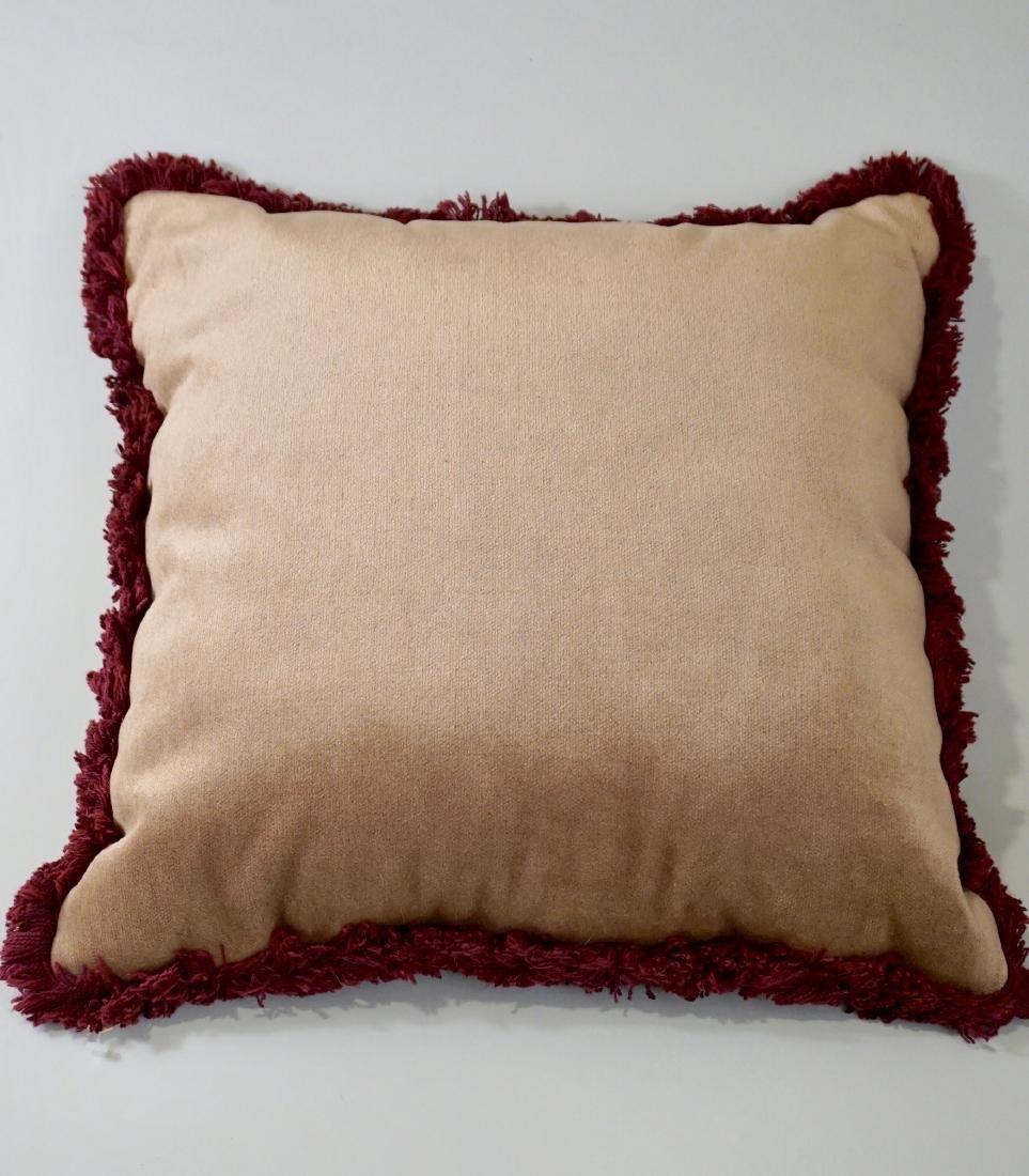 Lot of 2 Designer Pillows Envelope Tassel Monkey Tinsel - 4