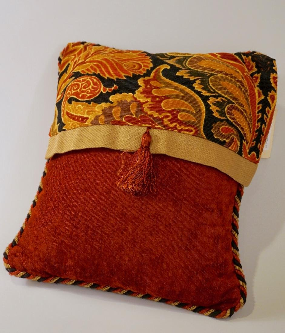 Lot of 2 Designer Pillows Envelope Tassel Monkey Tinsel - 5
