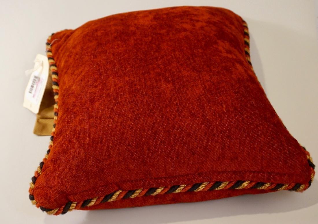 Lot of 2 Designer Pillows Envelope Tassel Monkey Tinsel - 6