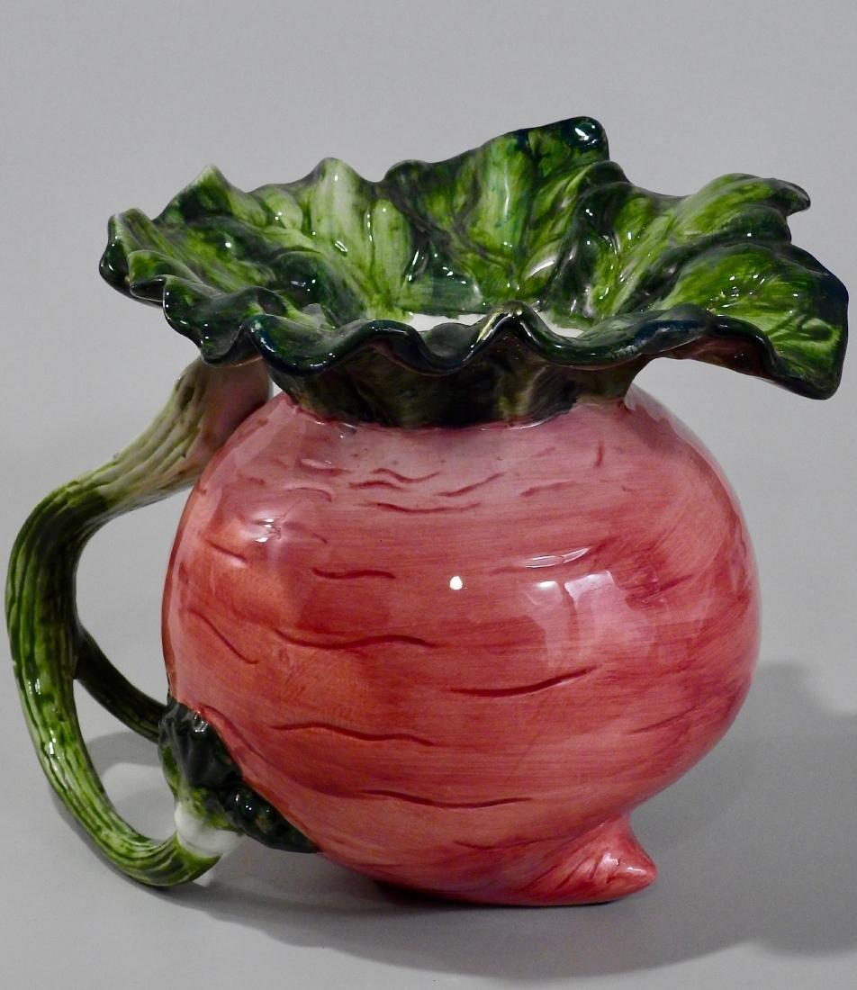 Large Turnip Figural Decorative Pitcher - 2
