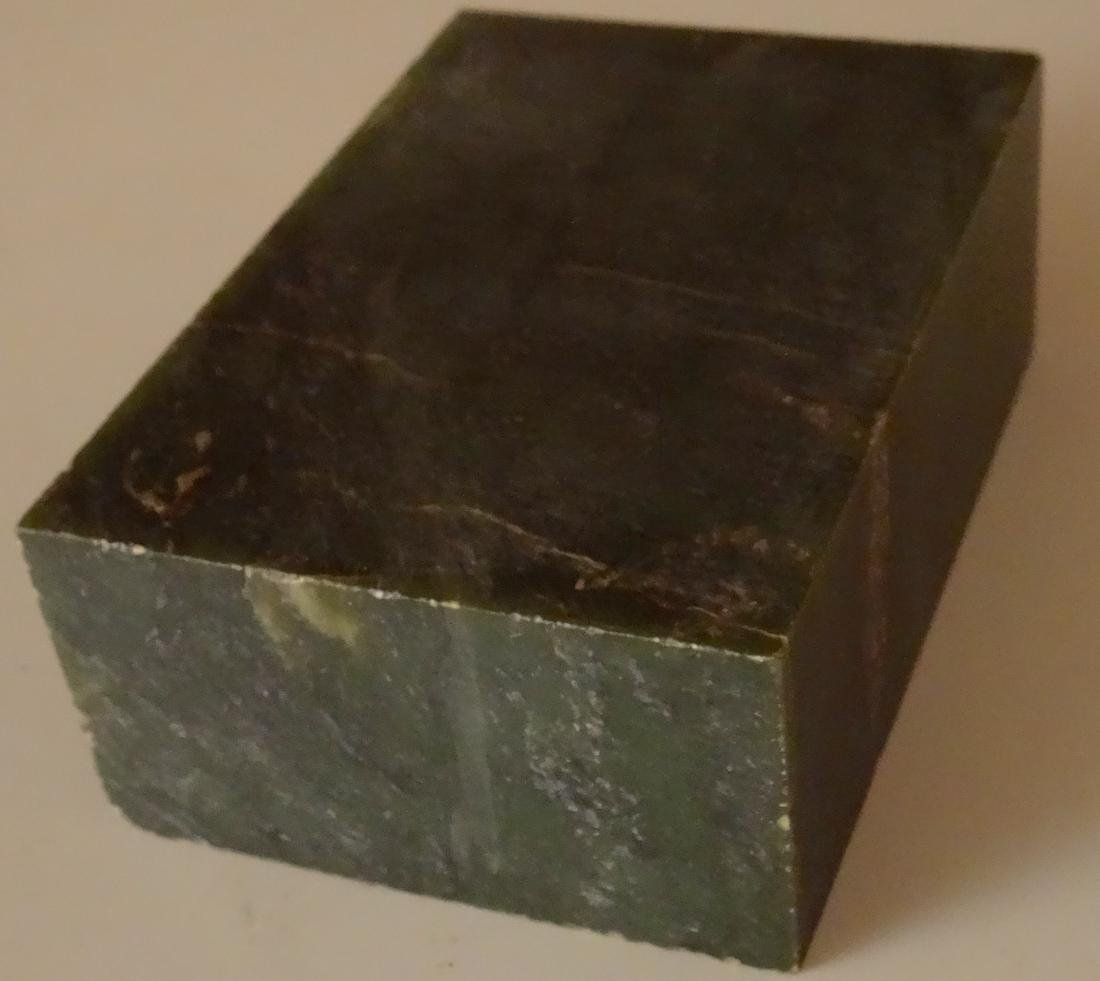 Large Jade Block for Carving Rough Slab - 2