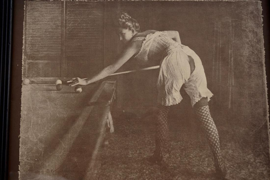 Erotic Billiards Pin-Up Lady Print - 3