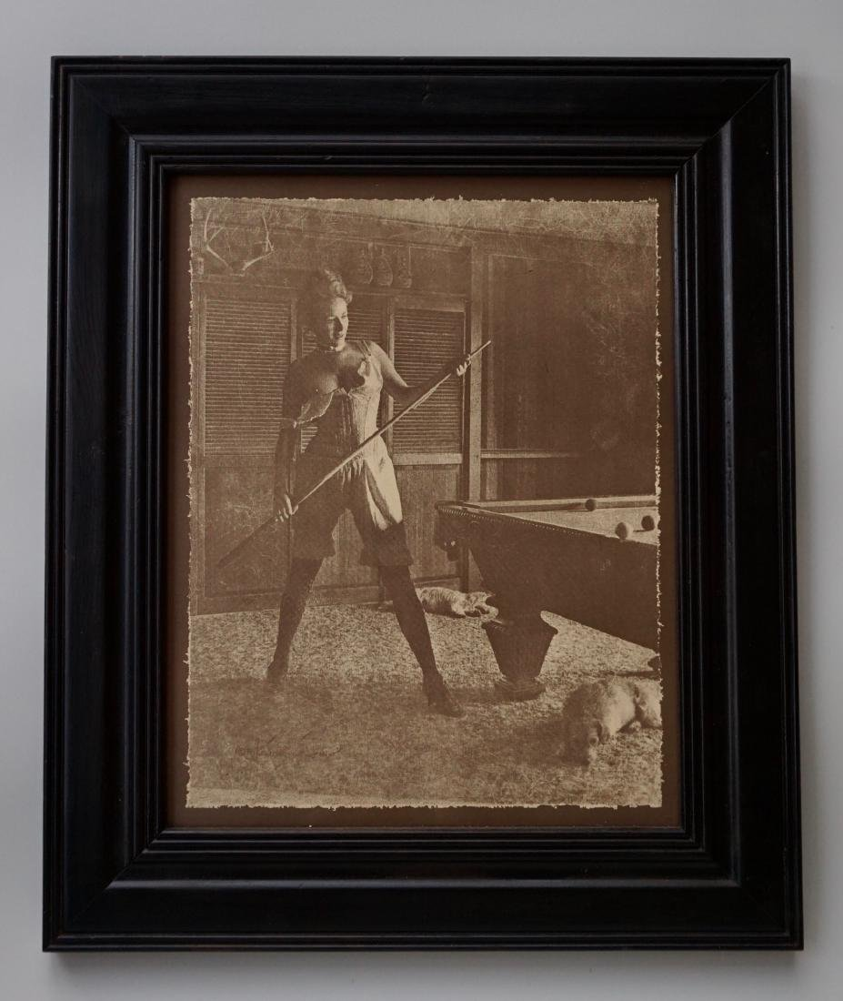 Pool Table Erotica Framed Print Sexy Maiden