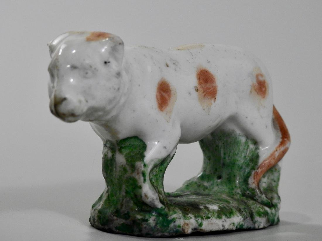 Antique Early Salt Glazed Staffordshire Cat Figurine - 3