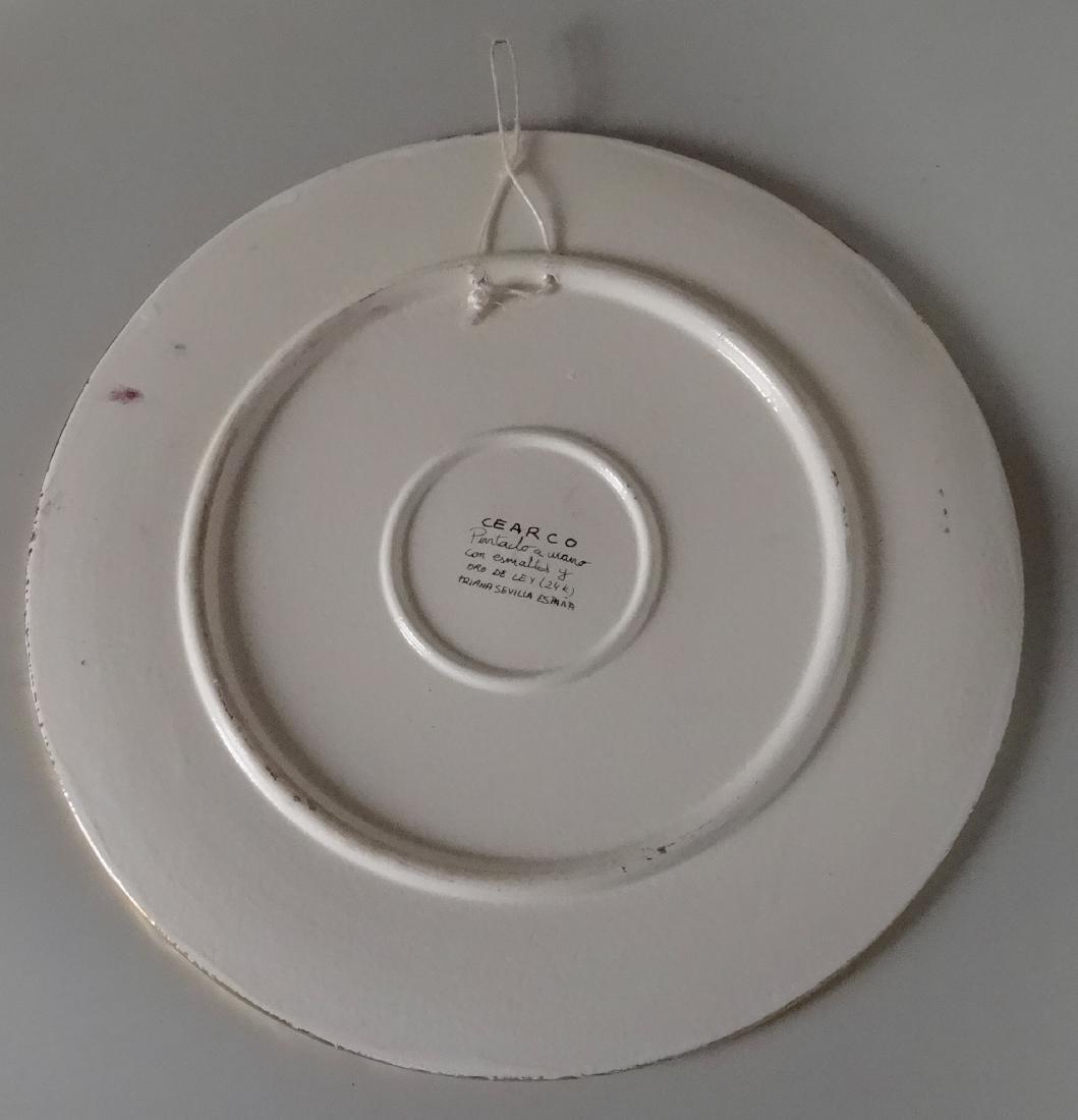 Moorish Cearco Embossed Enamel Platter Roundel Plaque - 5