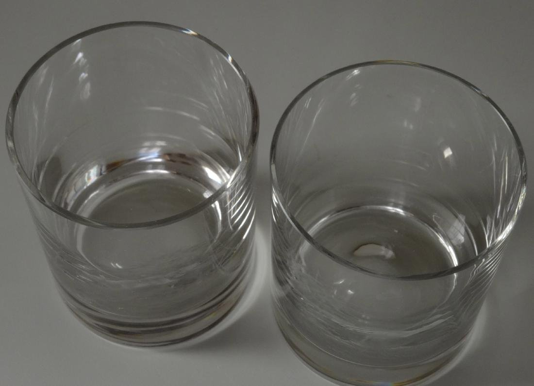 Fox Pheasant Hunting Engraved Cut Glass Whiskey Glasses - 3