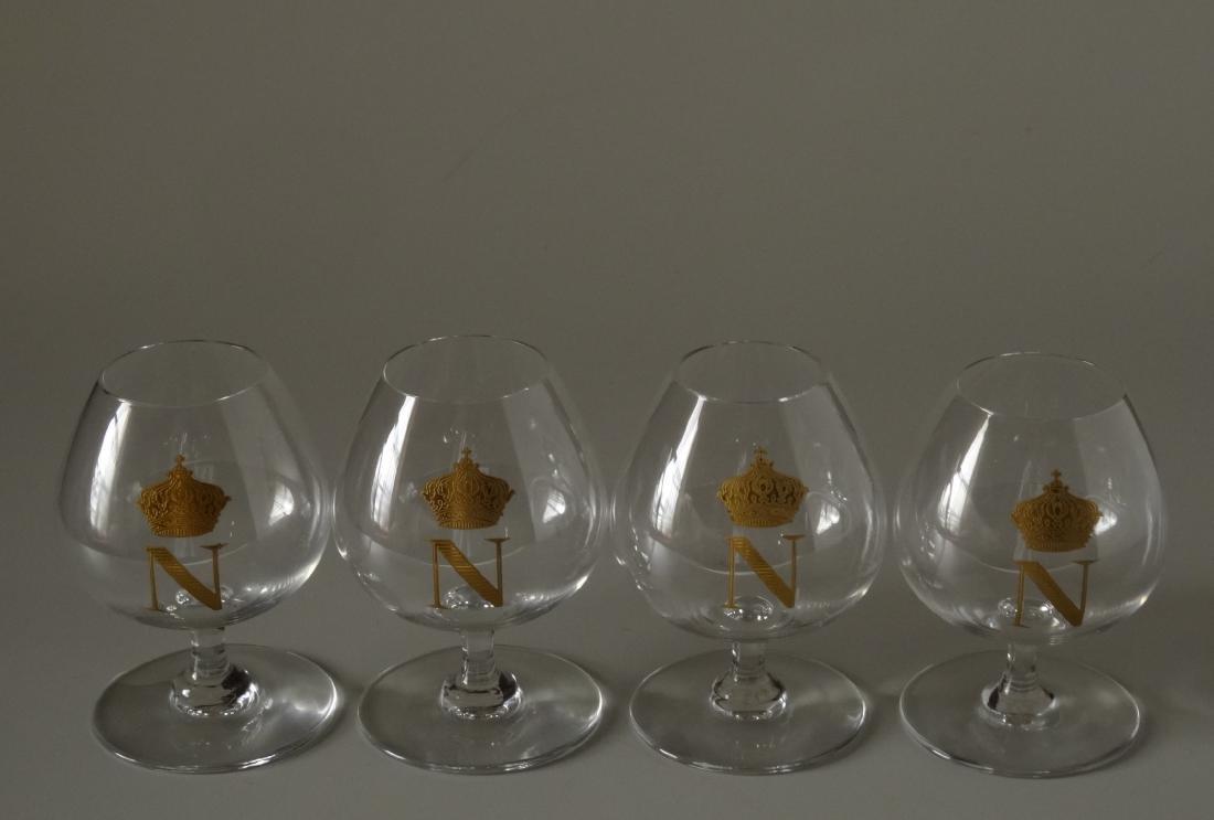 Baccarat Gilded Glass Napoleon Cognac Brandy Snuffers