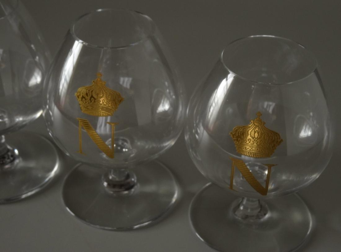 Baccarat Gilded Glass Napoleon Cognac Brandy Snuffers - 2