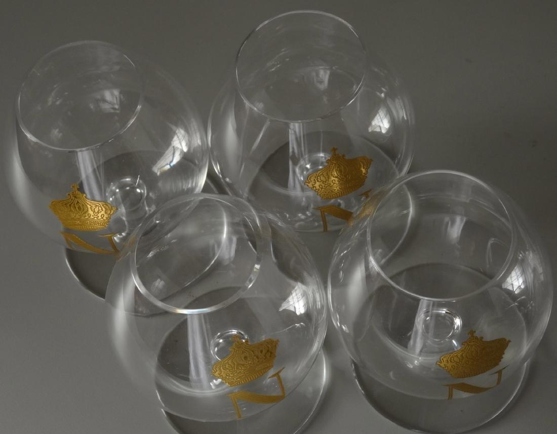 Baccarat Gilded Glass Napoleon Cognac Brandy Snuffers - 3