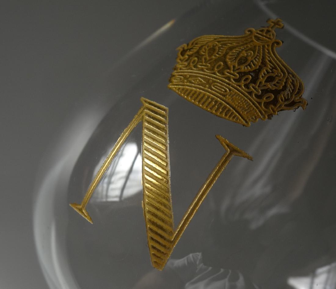 Baccarat Gilded Glass Napoleon Cognac Brandy Snuffers - 4