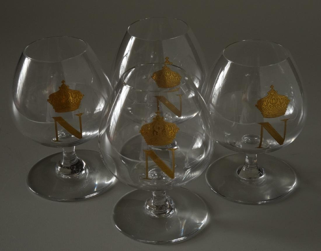 Baccarat Gilded Glass Napoleon Cognac Brandy Snuffers - 6