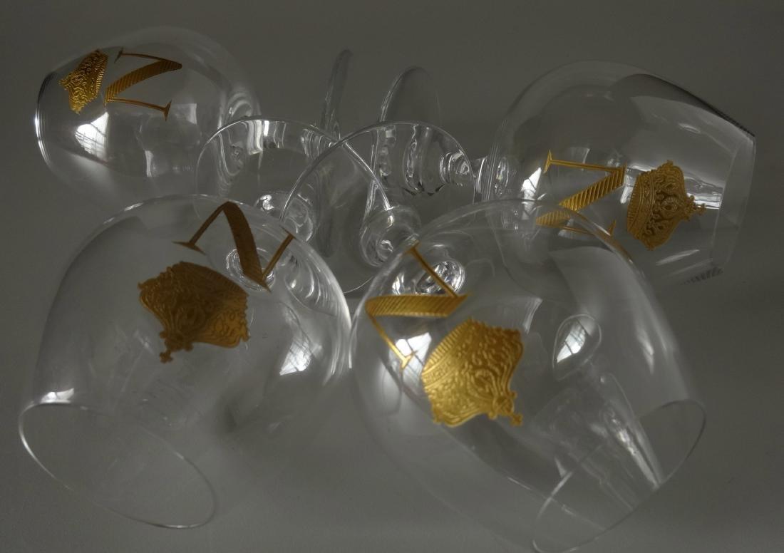 Baccarat Gilded Glass Napoleon Cognac Brandy Snuffers - 8