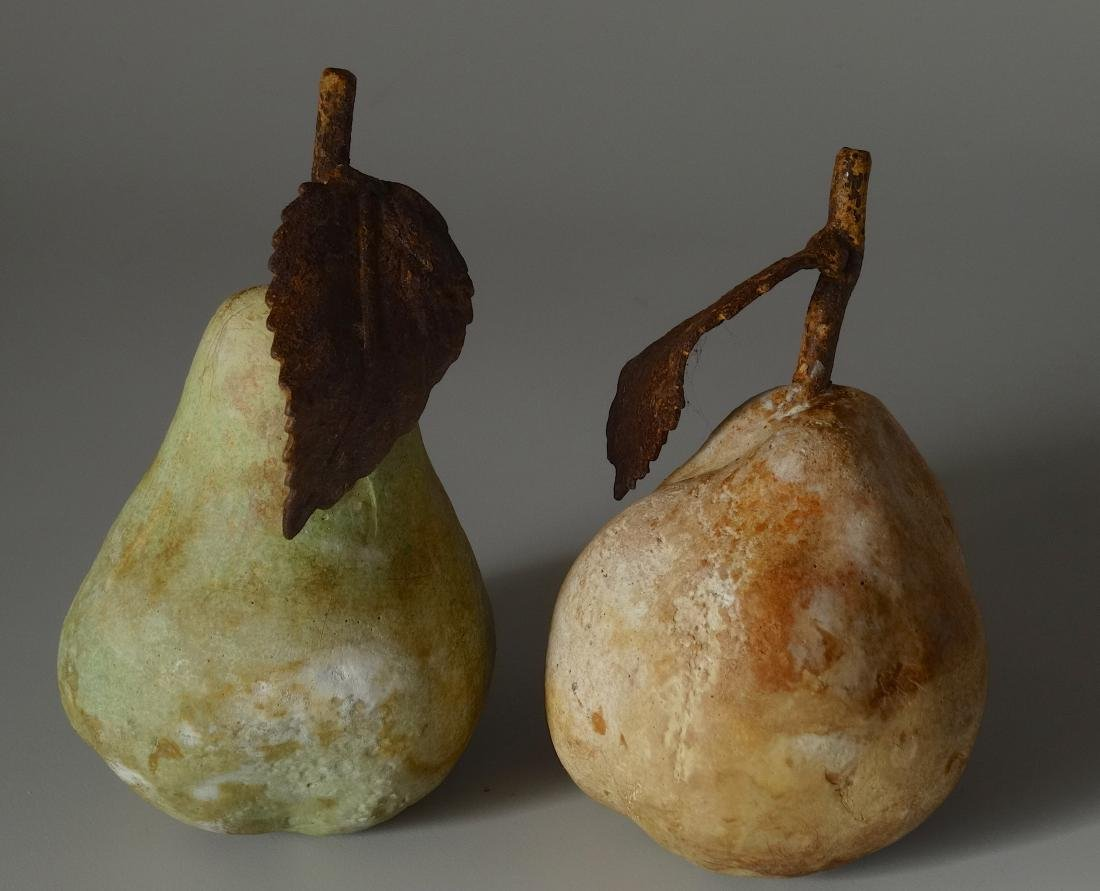 Vintage Garden Décor Cast Stone Fruits Pears Rusted