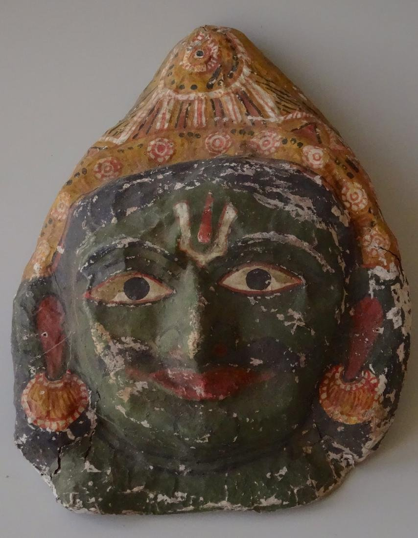 Vintage Papier Mache Indian Halloween Mask