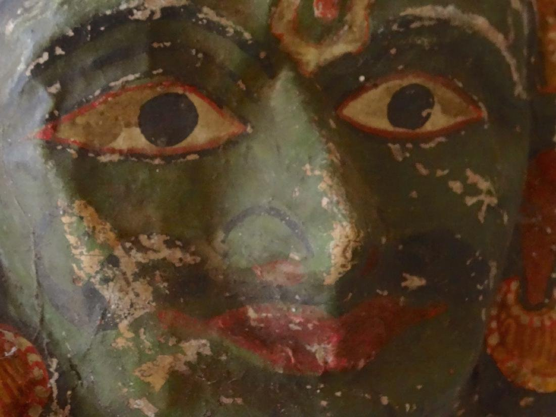 Vintage Papier Mache Indian Halloween Mask - 2