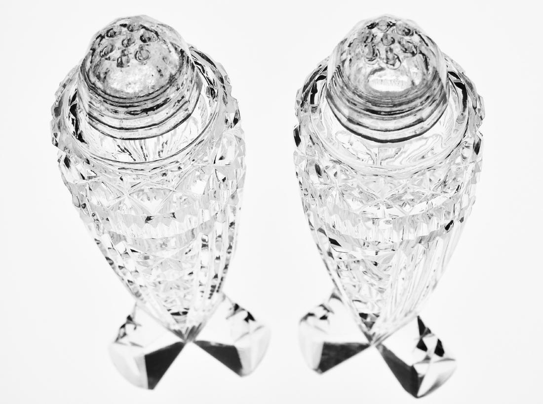 Vintage Art Deco Crystal Rocket Salt Paper Shakers - 5