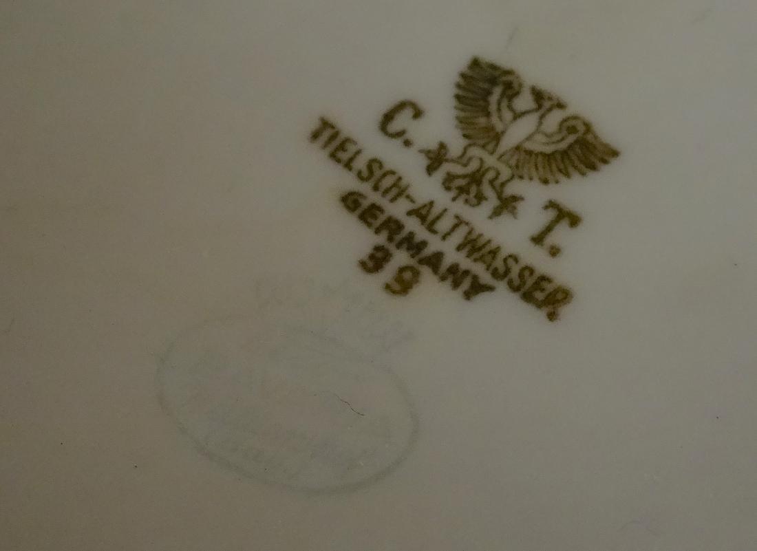 C.T. Tielsch & Co.Altwasser German Platinum Tureen Vege - 4