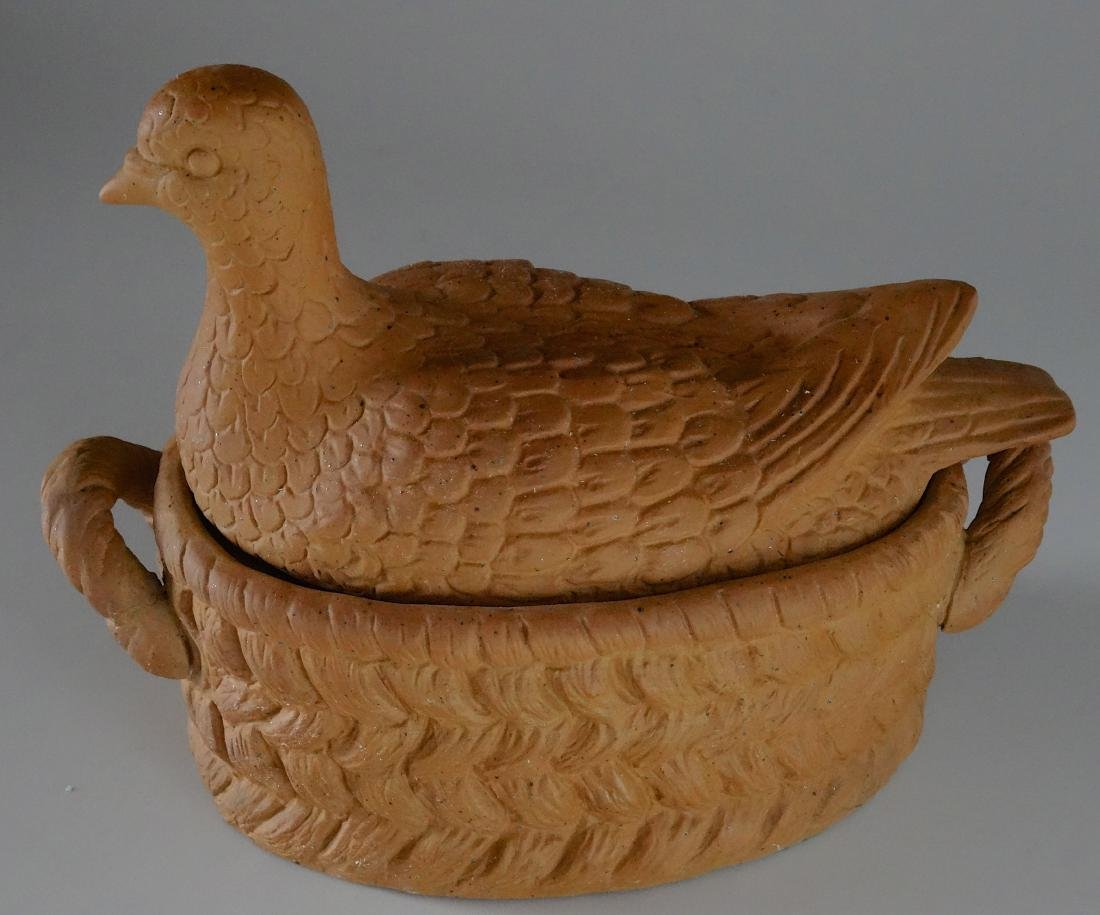 Vintage Detailed Dove Bird Tureen Trinket Box