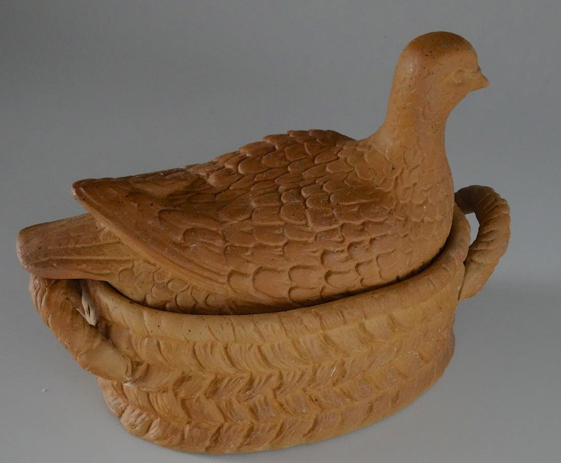 Vintage Detailed Dove Bird Tureen Trinket Box - 2