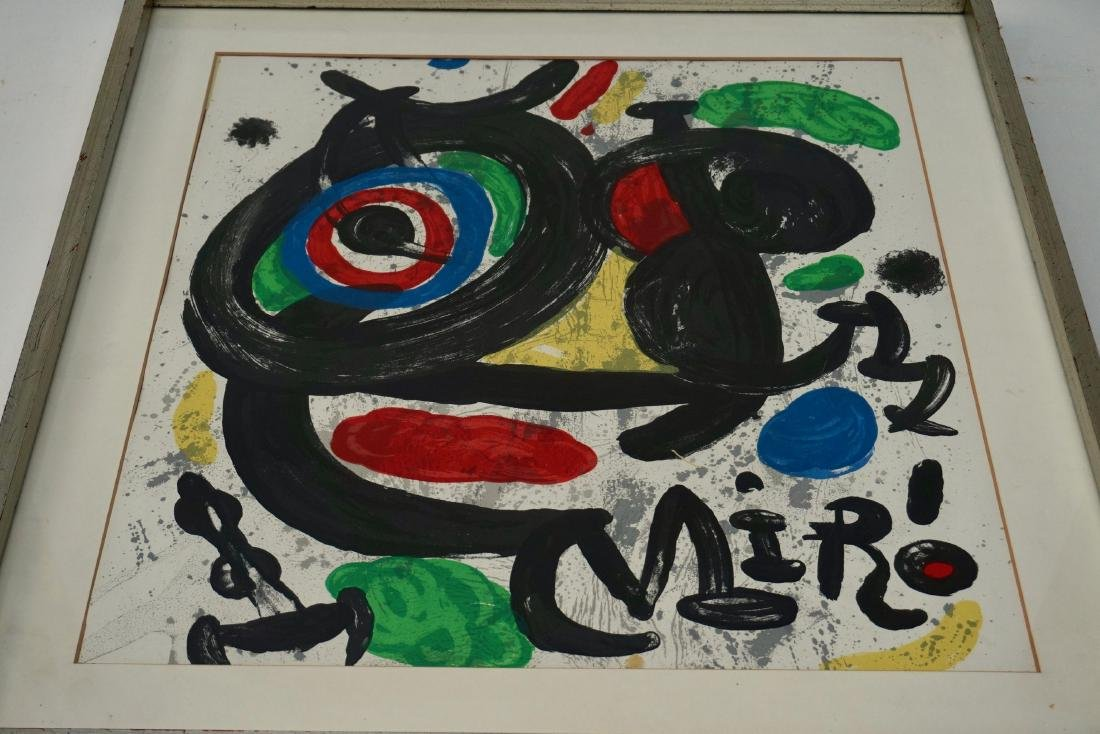 Joan Miro Spanish Abstract Lithograph Vintage Framed