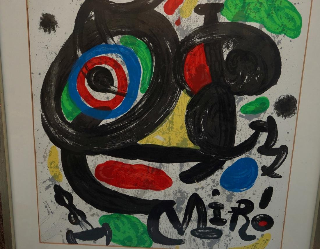 Joan Miro Spanish Abstract Lithograph Vintage Framed - 2