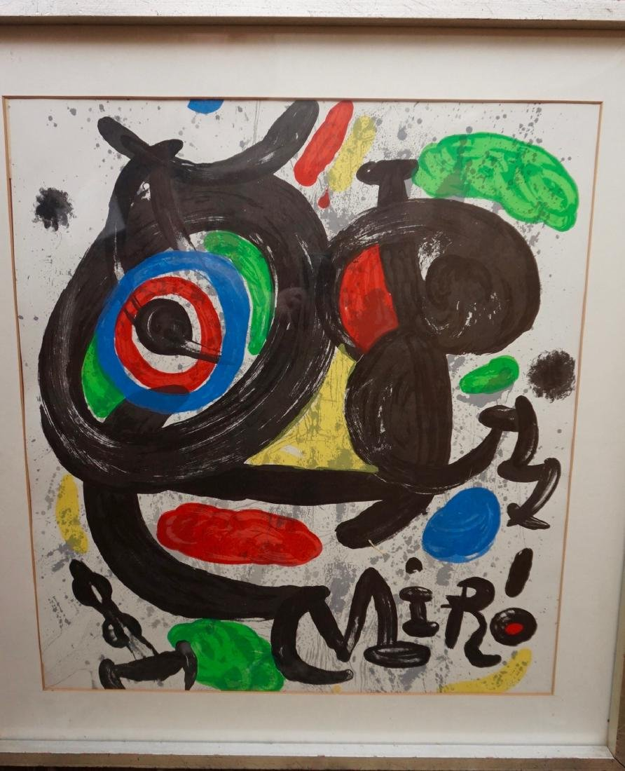 Joan Miro Spanish Abstract Lithograph Vintage Framed - 3
