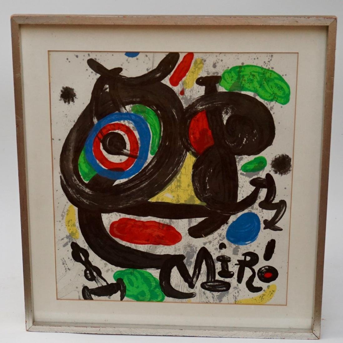Joan Miro Spanish Abstract Lithograph Vintage Framed - 4