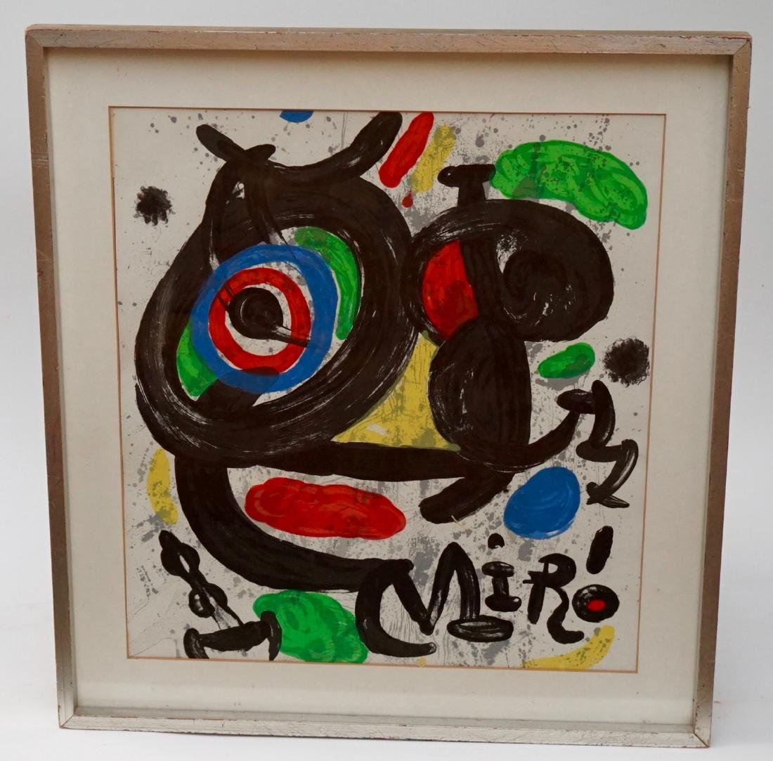 Joan Miro Spanish Abstract Lithograph Vintage Framed - 5