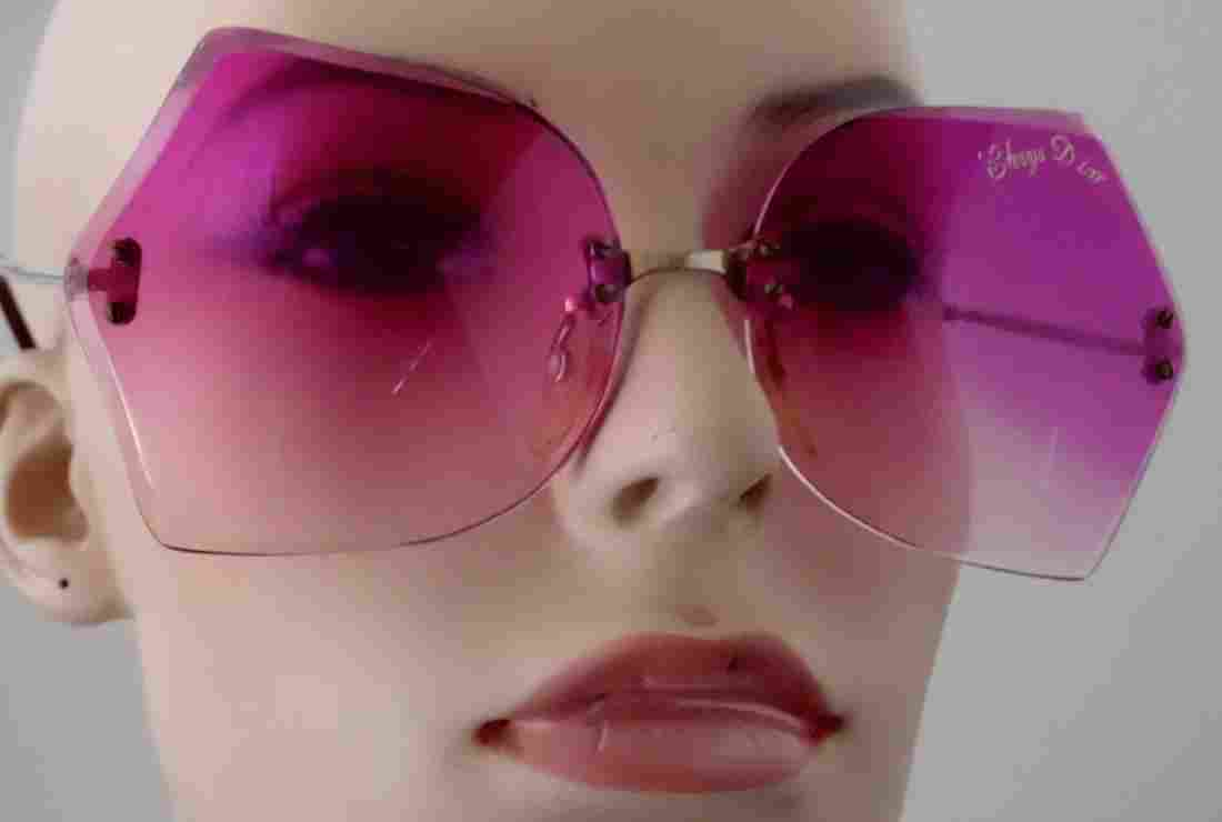 Vintage 70s Retro Funky Pink Sunglasses Theatre Prop