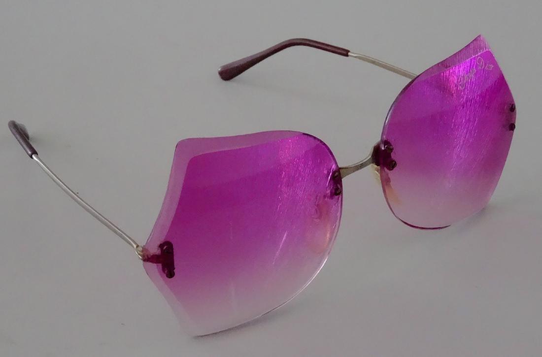 Vintage 70s Retro Funky Pink Sunglasses Theatre Prop - 2