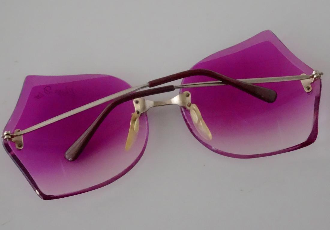 Vintage 70s Retro Funky Pink Sunglasses Theatre Prop - 4