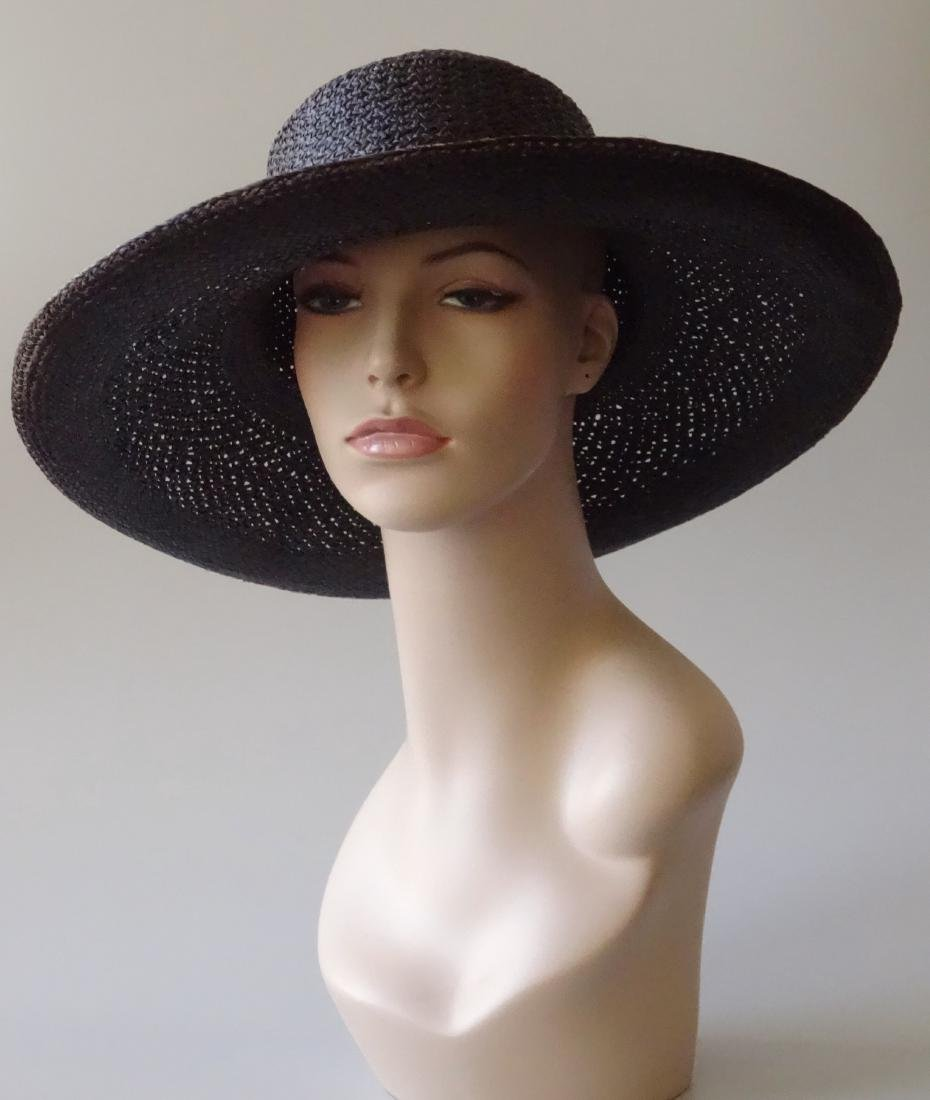 Women's Black Straw Summer Hat PANTROPIC California USA