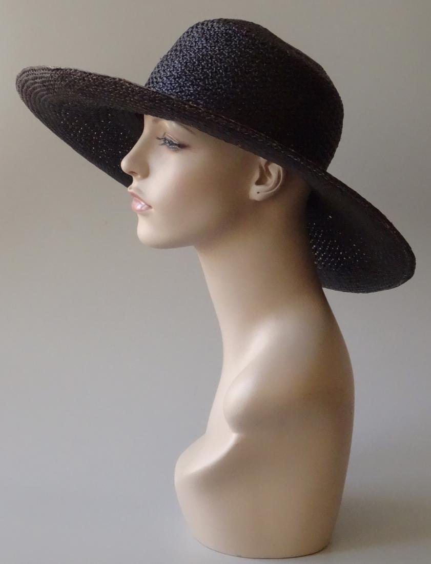 Women's Black Straw Summer Hat PANTROPIC California USA - 2