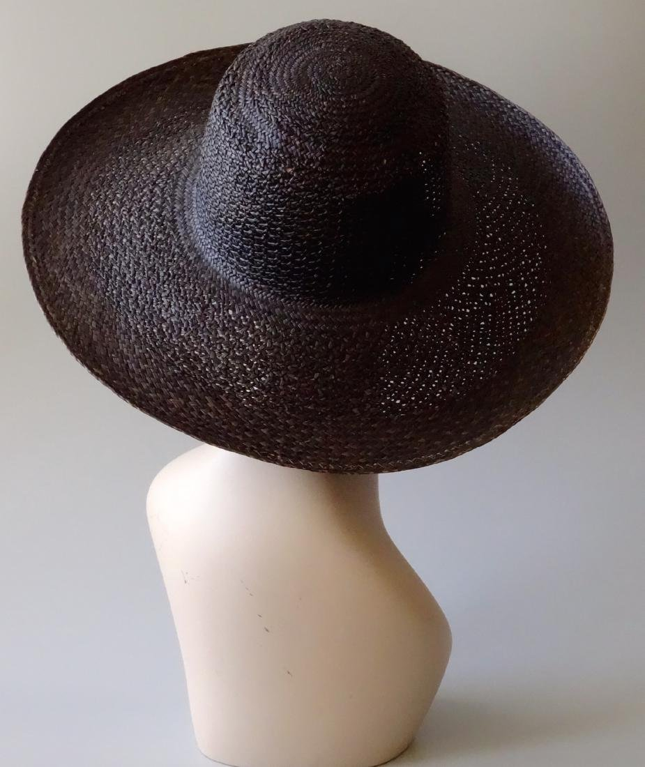 Women's Black Straw Summer Hat PANTROPIC California USA - 3