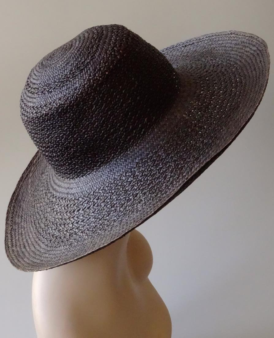 Women's Black Straw Summer Hat PANTROPIC California USA - 4