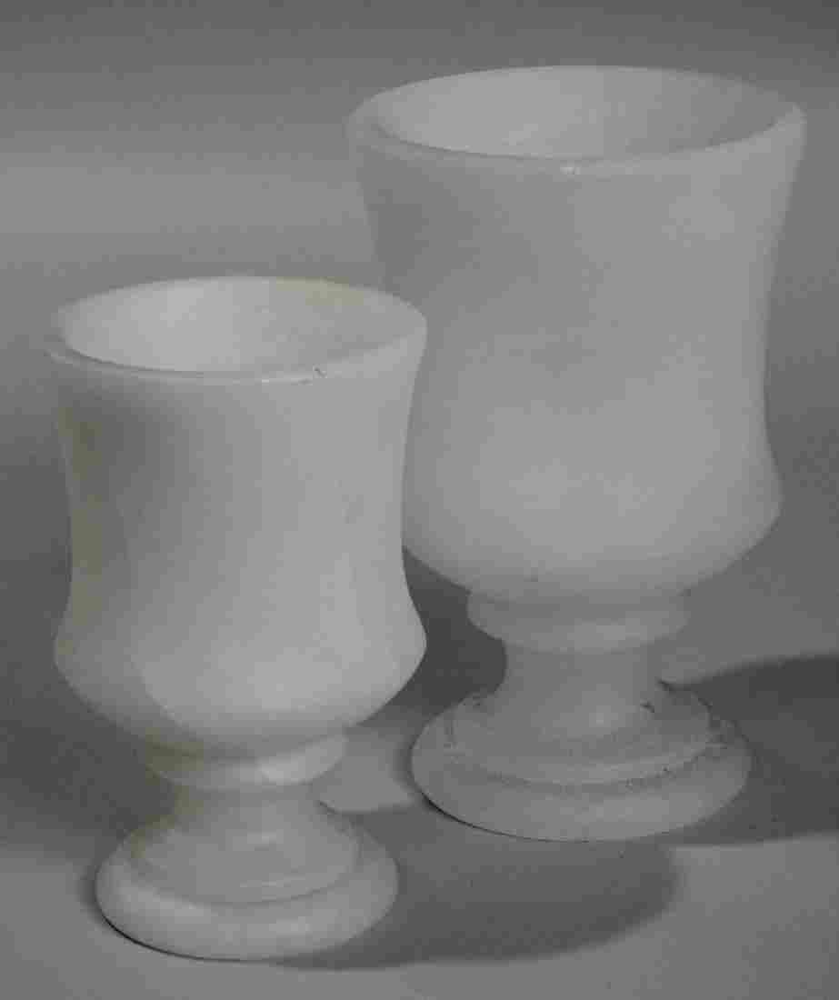 Carved Alabaster Marble Lantern Vase Candle Holders