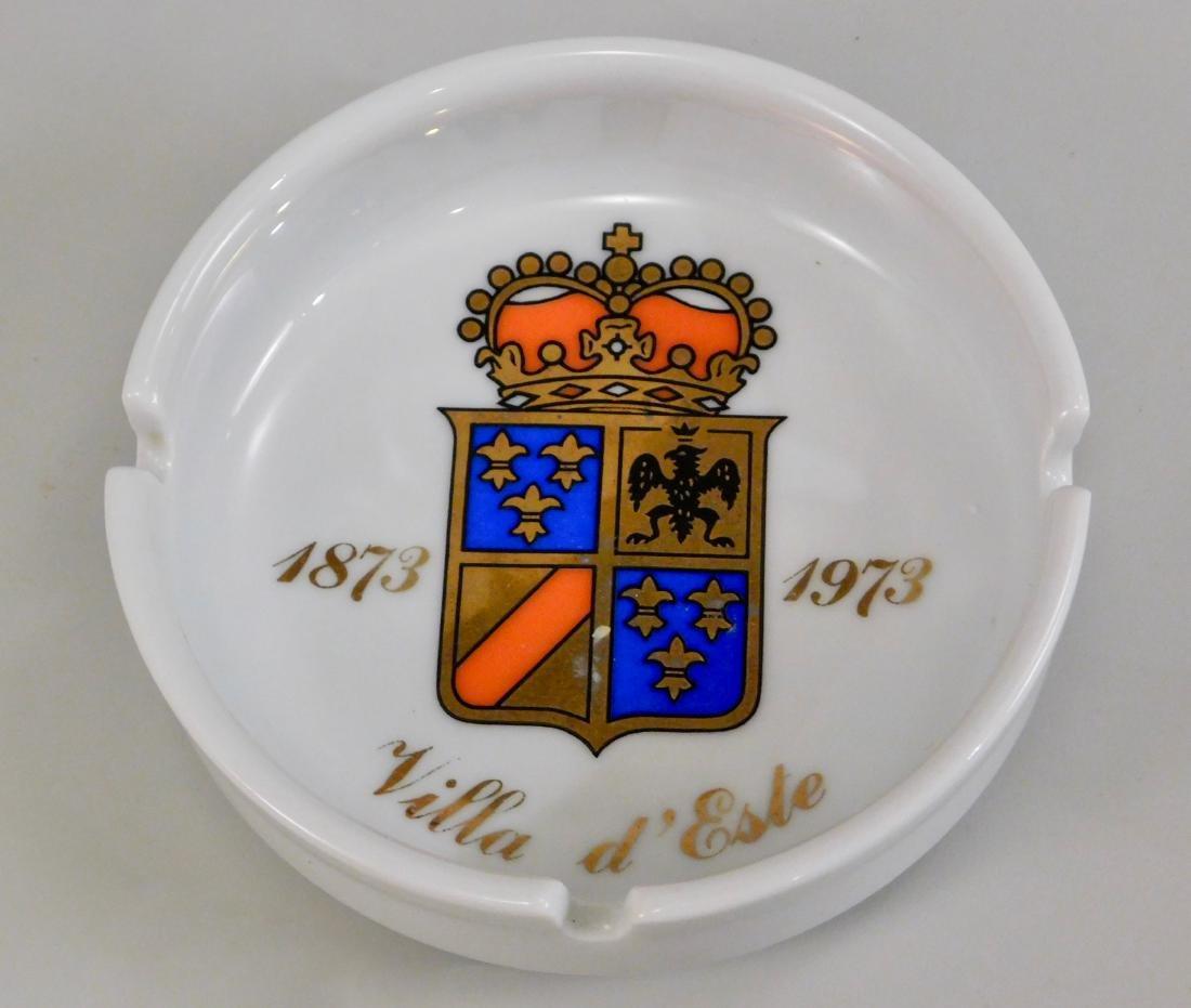 Italian Villa d Este Crest Ginori Porcelain Ashtray