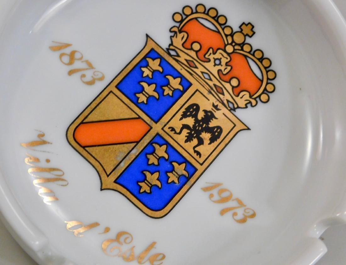 Italian Villa d Este Crest Ginori Porcelain Ashtray - 2
