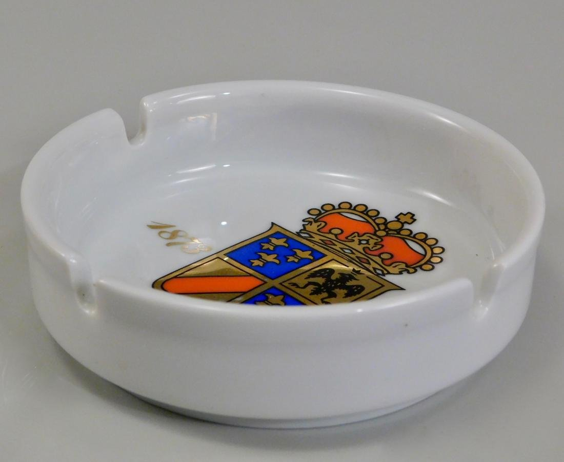 Italian Villa d Este Crest Ginori Porcelain Ashtray - 3