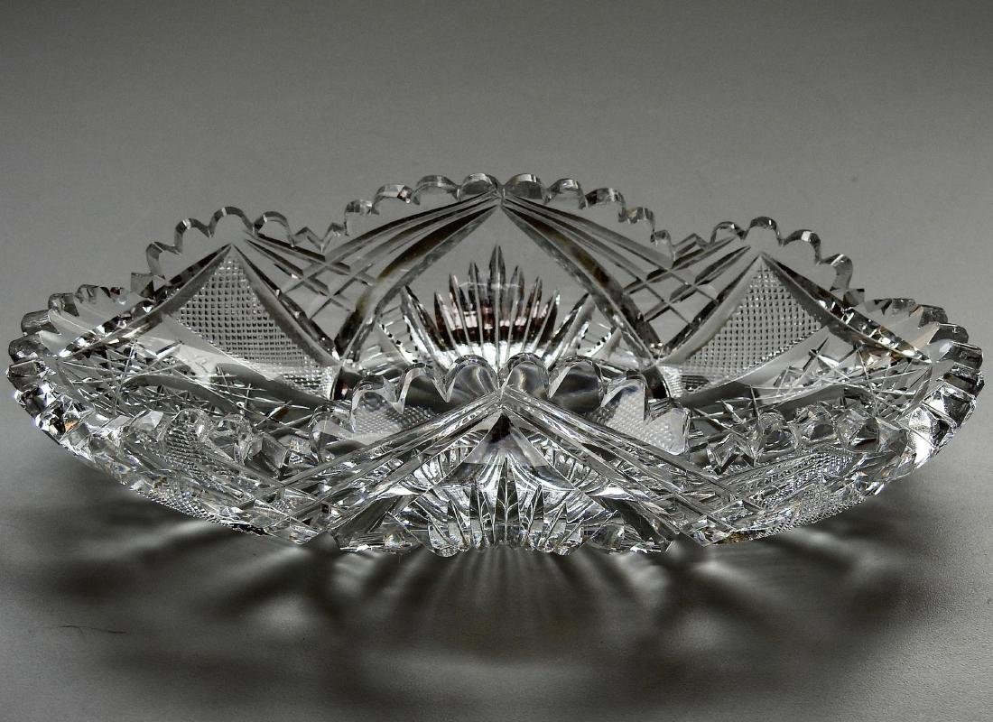 American Brilliant Period ABP Crystal Cut Glass Oval