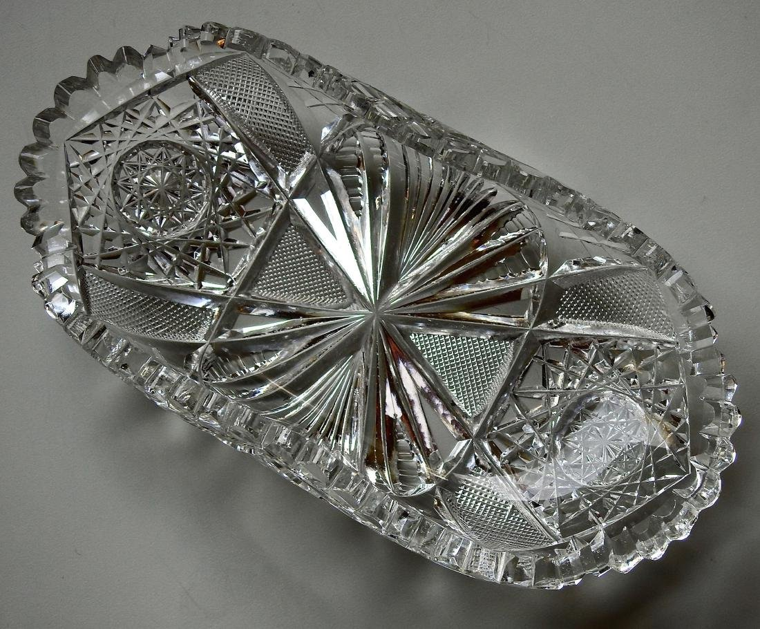 American Brilliant Period ABP Crystal Cut Glass Oval - 2