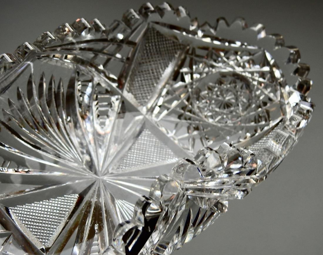 American Brilliant Period ABP Crystal Cut Glass Oval - 4
