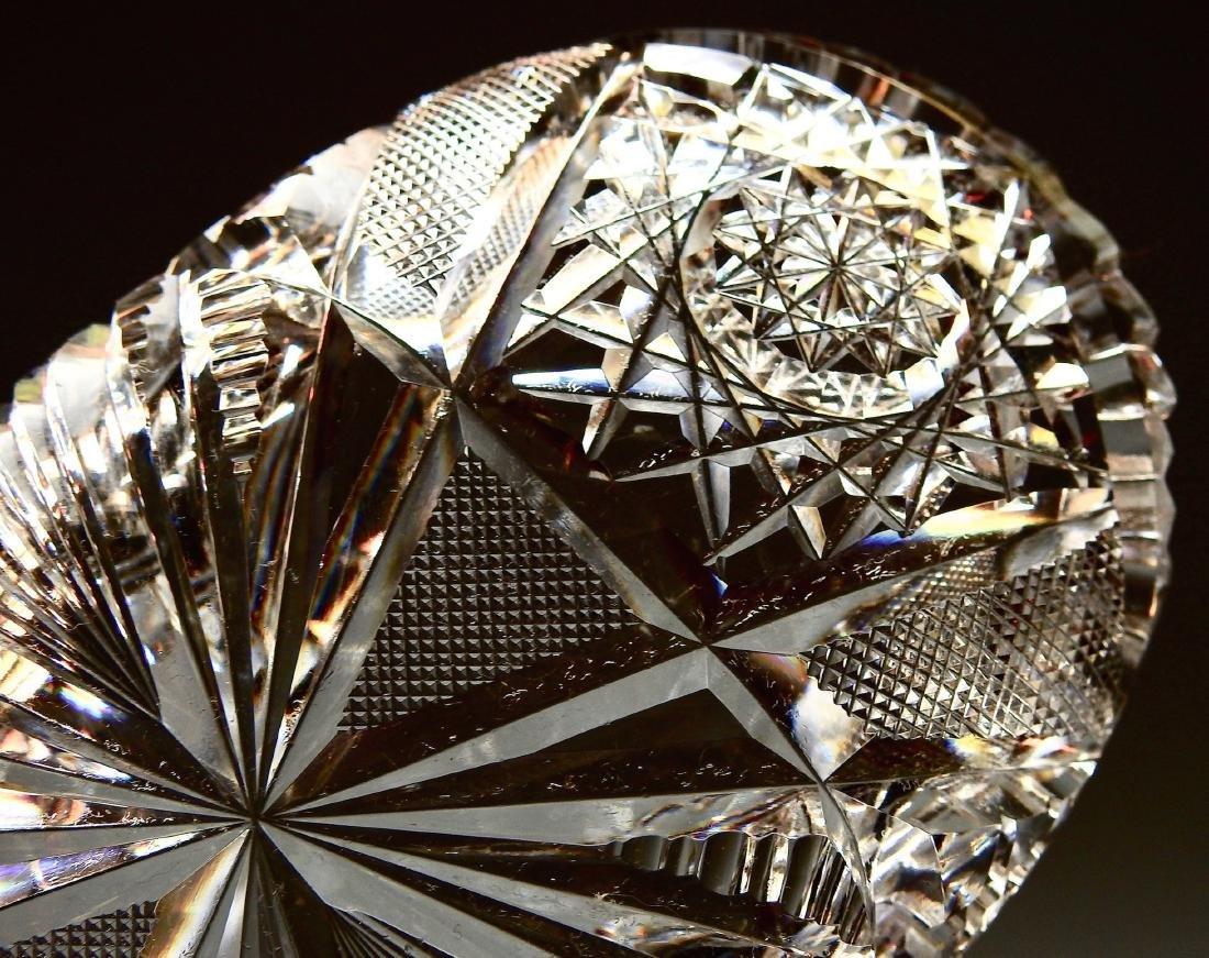 American Brilliant Period ABP Crystal Cut Glass Oval - 5