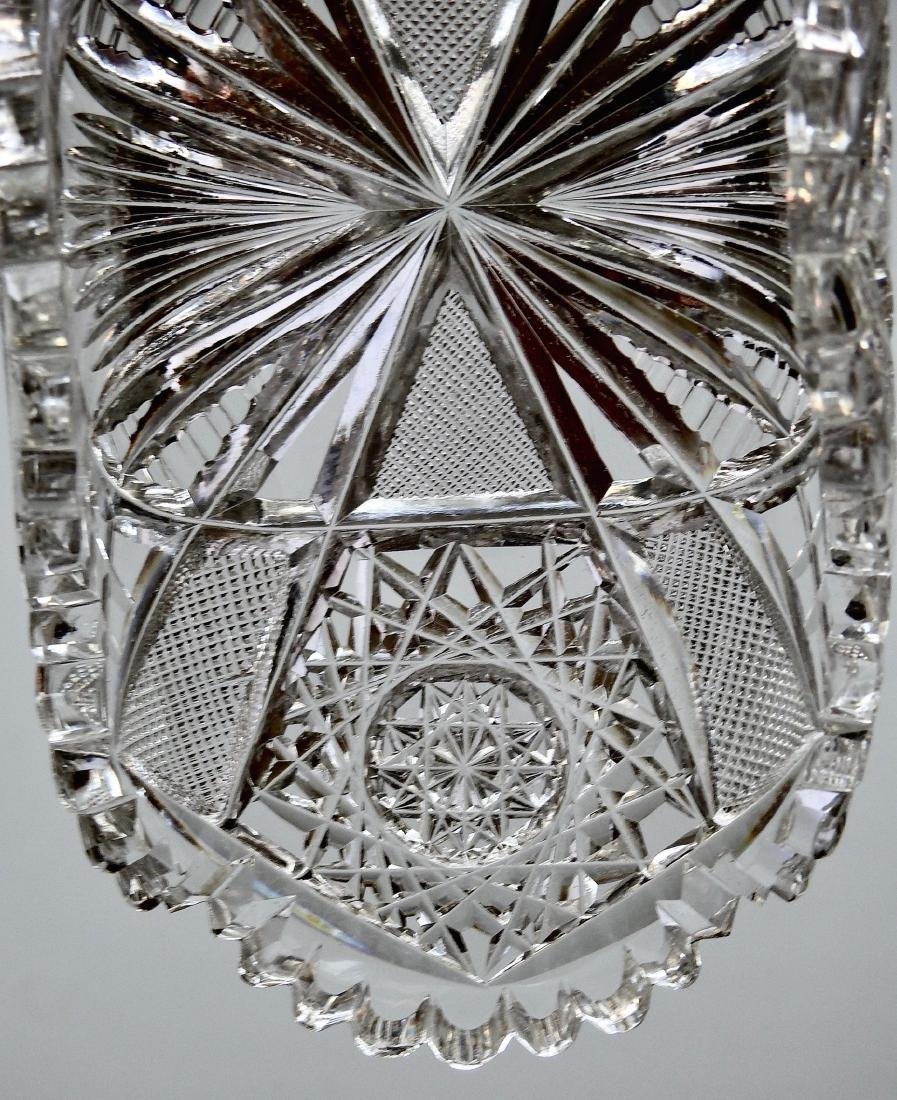 American Brilliant Period ABP Crystal Cut Glass Oval - 6