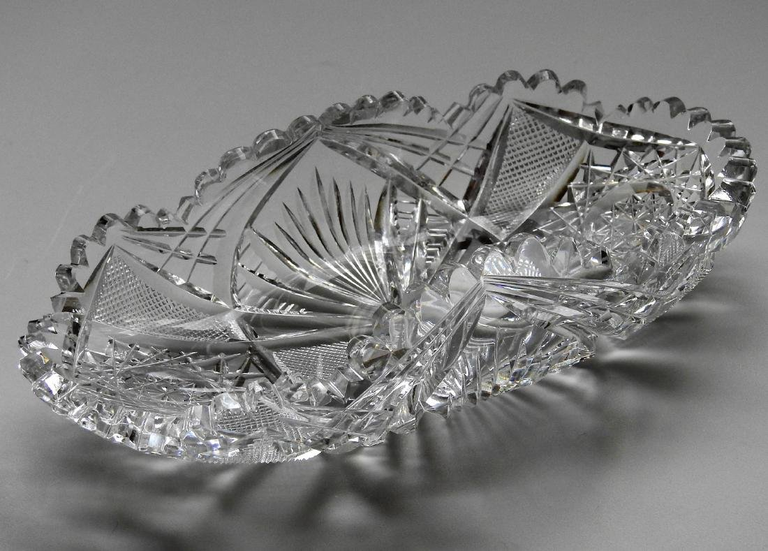 American Brilliant Period ABP Crystal Cut Glass Oval - 7