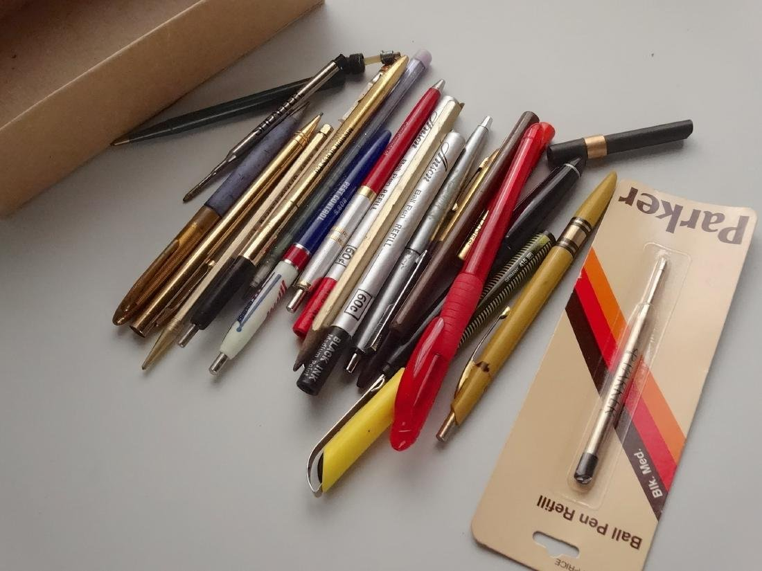 Lot of Vintage Ball Pens Etc Out of the Box