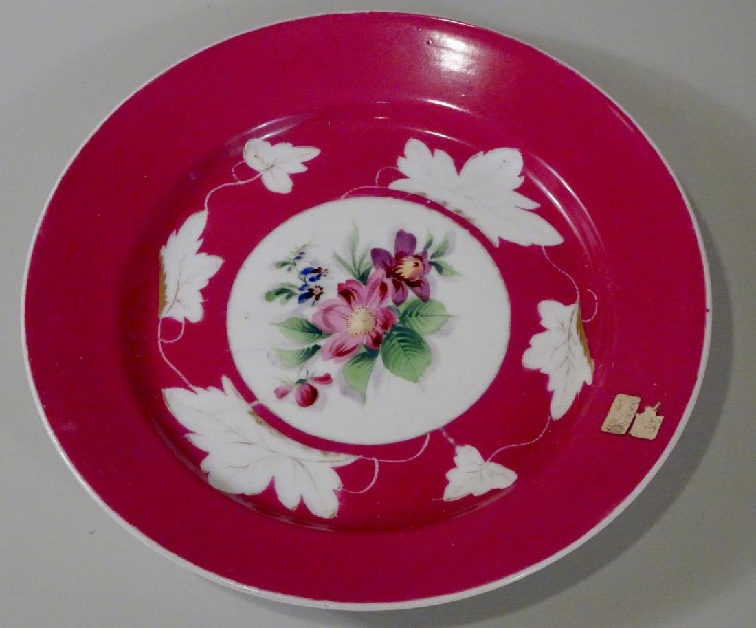 Imperial Russian Gardner Porcelain Hand Painted Plate