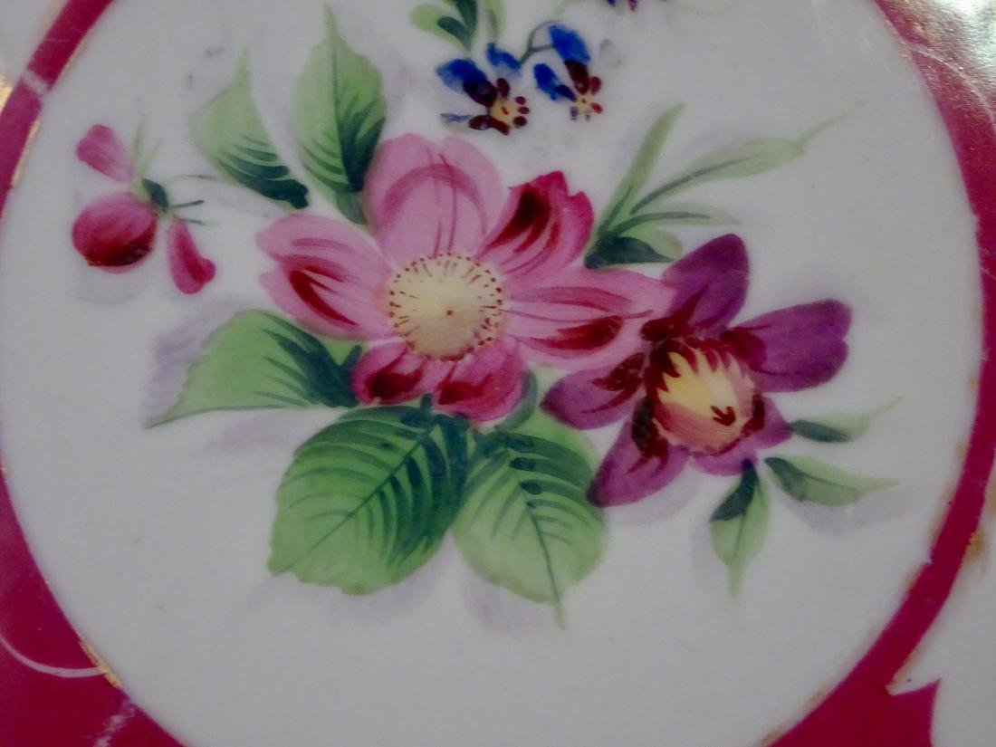 Imperial Russian Gardner Porcelain Hand Painted Plate - 3