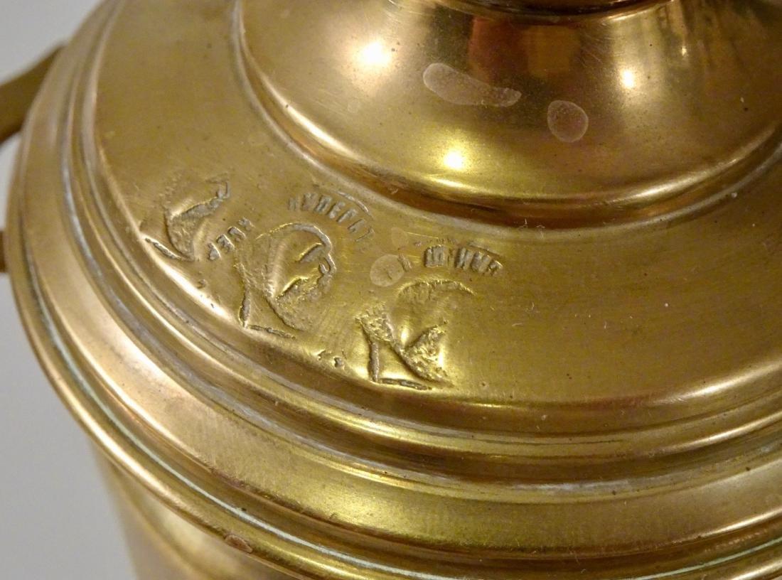 Antique Hallmarked Brass Miniature Samovar With Tray - 6